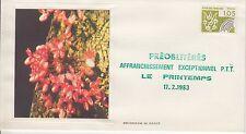 ESSAIE SERIGRAPHIE DE DAOUT PREMIER JOUR 1983 EUROPA PREOBLITERES LE PRINTEMPS