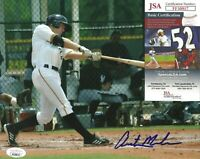 Austin Meadows Signed Auto 8x10 Photo JSA COA Pittsburgh Pirates Tampa Bay Rays