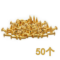50 Pcs Guitar Bass Pickguard Mounting Screws For ST TL SG Guitar Parts Gold
