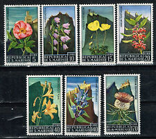 San Marino Flora Mountain Flowers stamps set 1967 MLH
