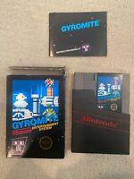 Gyromite - Nintendo NES - Complete In Box CIB - Very Rare Excellent Condition