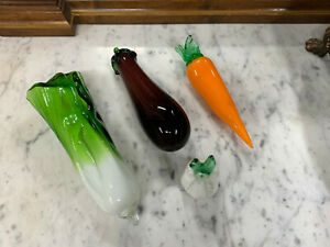 Vintage Murano Style Glass  Vegetables