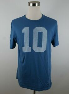 NFL New York Giants Eli Manning Mens SS Crew Neck Light Blue T Shirt Reebok XL