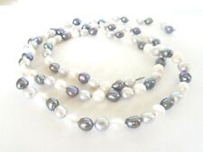 """Genuine Fresh Water Pearls Cultured Multi Color Loose Strand 34 """" Long 7.5 MM"""