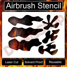 ULTIMATE FLAME COLLECTION Reusable Airbrush Stencil Template for RC Body 11x8.5