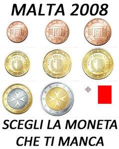 1 2 5 10 20 50 CENT - 1 2 EURO 2008 - MALTA FDC UNC