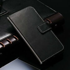 For Lenovo P780 Case Glossy Luxury Genuine Real Leather Flip Wallet Stand Cover