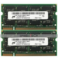 Micron 2GB KIT (2X1GB) PC3200S DDR 400 200 PIN CL3 SODIMM Laptop Notebook Memory