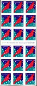 Holiday Cardinal Pane of Eighteen 29 Cent Postage Stamps Scott 2874a