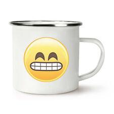 Awkward Teeth Face Emoji Retro Enamel Mug Cup