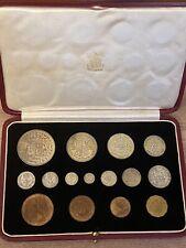 More details for george vi, 1937 cased specimen set, proof, 15 coins including maundy