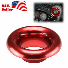 """3"""" Red Aluminum Short Ram Cold Air Intake Filter Velocity Stack Flow Turbo Horn"""