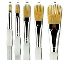 Aqualon Royal and Langnickel Wisp Short Handle Paint Brush Set Filbert 5-piece