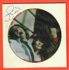 "John Lennon Interview 7"" Picture Disc Orange OR-70078 W/ David Peel Autograph!!"