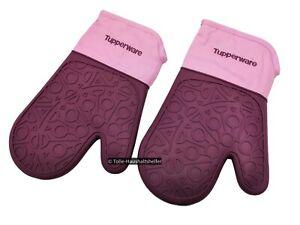 Tupperware® Silikon-Backhandschuh 2er-Set Ofen-Handschuh backen Topflappen NEU