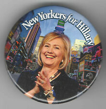 2016 pin HILLARY Clinton  pinback NEW YORK Primary THEATRE District NYC