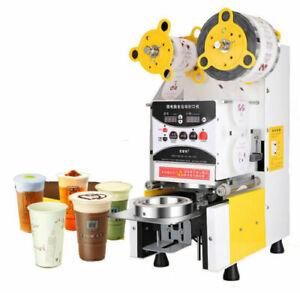 Full Automatic Bubble Tea Cup Sealing machine Fruit Juice Cup Sealer 220V Biz