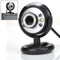 New USB 80.0M 6 LED Webcam Camera 80MP Web Cam with Mic for Desktop PC Lapt Y8Z4