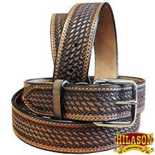 Leather Gun Holster Belt Handmade Heavy Duty Western Work Mens Hilason U-05DB