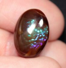 10.3 ct Fire Agate Cabochon and 15.9 gram Rough from Calvillo, Mexico