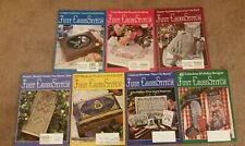 New ListingLot of 7 Just Cross Stitch Magazines 1995 Complete year Christmas Spring Fall