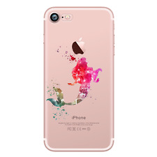 ARIEL THE LITTLE MERMAID 5 Watercolour Princess Disney Hard Case For iPhone