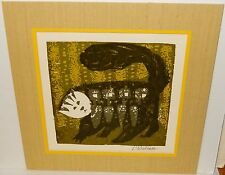 DAVID WEIDMAN CAT HAND SIGNED IN PENCIL VINTAGE LITHOGRAPH