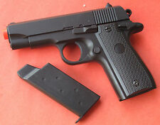 Full Metal Body & Slide Airsoft Spring Pistol Compact 1911 Shoot at 250 FPS