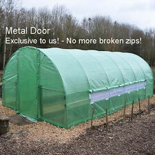 Polytunnel 6m x 3m  Greenhouse Poly Tunnel Pollytunnel Galvanised Door Frame