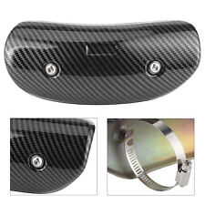 Motorcycle Exhaust Middle Pipe Heat Shield Guards Cover Universal Carbon Fiber
