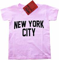 New York City Toddler T-Shirt Screenprinted Pink Baby Lennon Tee 3t