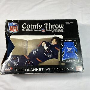 NFL Chicago Bears The Snuggler Youth Size Comfy Throw Blanket with Sleeves New