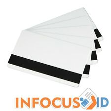 100 x Blank Plastic Hi-Co Magnetic Stripe Cards Top Quality Stock! Mag-Strip ID