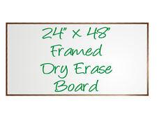 X Large White Menu Dry Erase Sign Chalk Board Framed