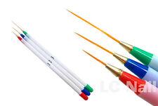 3 sizes Acrylic Nail Art Design Drawing Painting Striping DIY Brush Pen set Kit