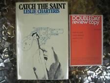 Leslie Charteris Catch The Saint 1ST REVIEW COPY IN DJ