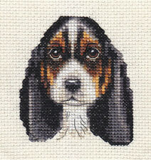 BASSET HOUND ~ Dog, Full counted cross stitch kit + All materials