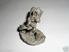 Little Dragon with wings holding a bat or club Metal Miniature Fantasy Figure