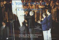 Sao Tome e príncipe Bloque 184a (edición completa) usado 1988 olímpicos Juegos