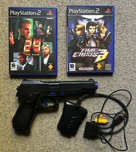 PS2 Games - 24 The Game and Time Crisis 3 with gun - Playstation 2