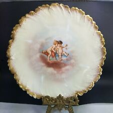 Limoges Porcelain Hand Painted Plate Cherubs Angels Marked 1800's Antique 6.75in