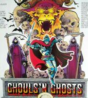 Capcom Ghouls N Ghosts Arcade FLYER Art Print Original 1988 Video Game Scarce