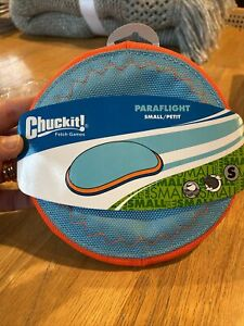 ChuckIt Paraflight Frisbee Interactive Floats in Water Fly Toss Dog Toy SMALL