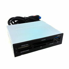 "3.5"" Floppy Bay Front Panel USB 3.0 Port Hub All in One USB 2.0 Card Reader"