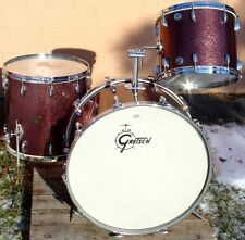 RARE 1970s GRETSCH Oversized 3 pc. set in BURGUNDY Sparkle 15,18,26