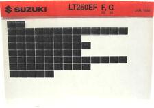 Suzuki LT250EF 1985  1986 Parts Catalog Microfiche s499