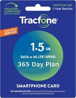 TracFone 1 Year / 365 DAYS AIRTIME + 1GB DATA Add On Refill Card Same Day Refill