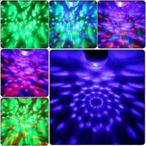 Mini USB Colorful LED Disco Light Portable Crystal Magic Ball Stage DJ Lamp