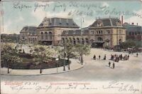 uralte AK, Düsseldorf, Hauptbahnhof mit Wilhelmsplatz 1905 Bahnhof