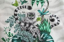 Clarke & Clarke Curtain Fabric by Emma Shipley 'lemur' 3 Metres 300cm Jungle
